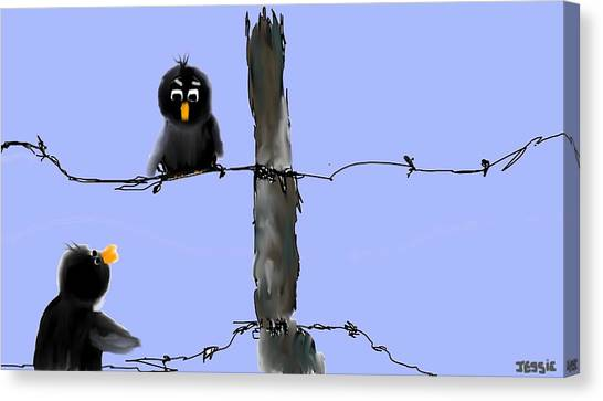 Don't Cross My Fence Canvas Print