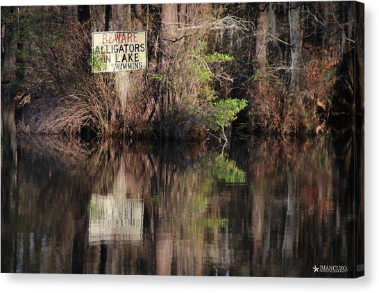 Don't Feed The Alligators Canvas Print