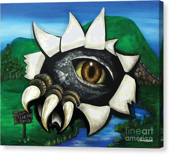 Don't Feed The Dinosaur Canvas Print