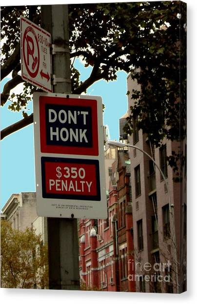 Don't Honk Canvas Print by Claudette Bujold-Poirier
