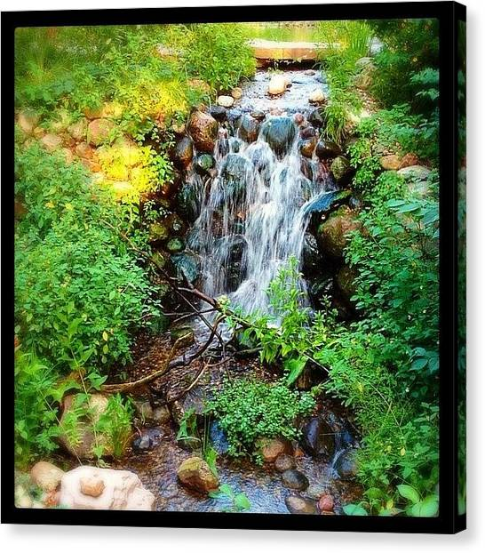 Waterfalls Canvas Print - Don't Kid Yourself. Summer Is The Best by Heidi Hermes