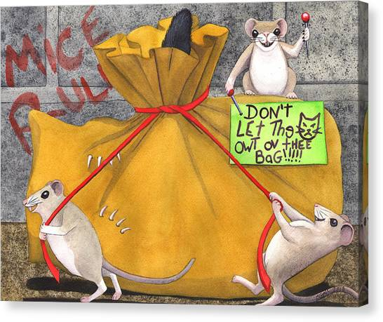 Dont Let The Cat Out Of The Bag Canvas Print by Catherine G McElroy