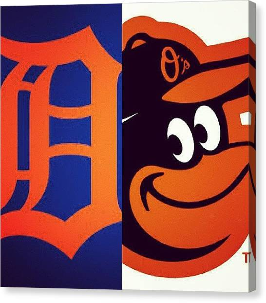 Orioles Canvas Print - Don't Really Have A 2nd Fave Team But by Mia Williams