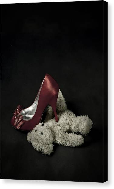 Teddybear Canvas Print - Don't Step On Me by Joana Kruse