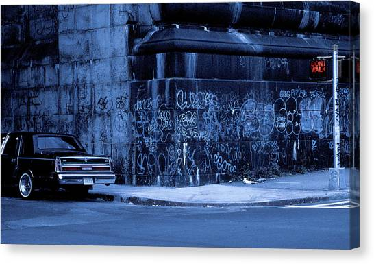 Classic Car Canvas Print - Dont Walk (from The Series new York Blues) by Dieter Matthes