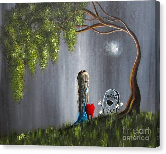 Crying Canvas Print - Don't Worry I Won't Let That Happen To You By Shawna Erback by Shawna Erback