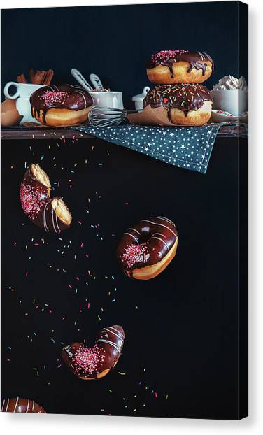 Buns Canvas Print - Donuts From The Top Shelf by Dina Belenko