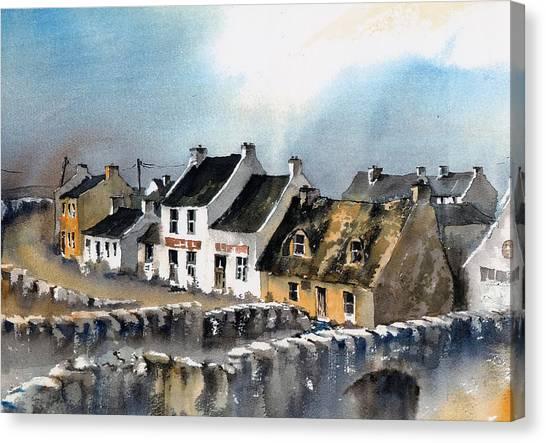 Clare Doolin Village  Canvas Print