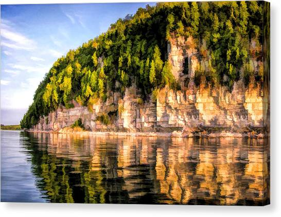 Door County Ellison Bay Bluff Canvas Print