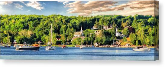 Door County Ephraim Harbor Sunset  Panorama Canvas Print