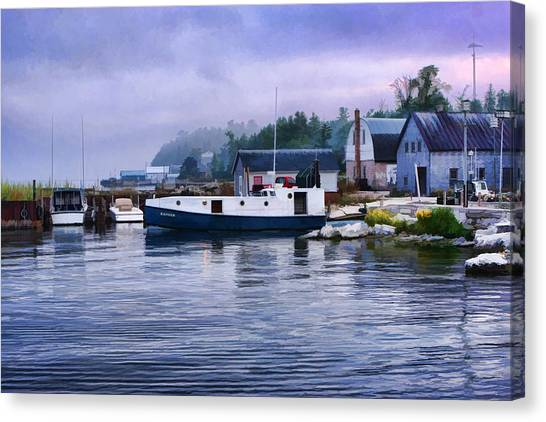 Door County Gills Rock Fishing Village Canvas Print