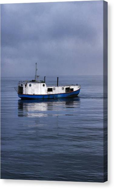 Door County Gills Rock Trawler Canvas Print