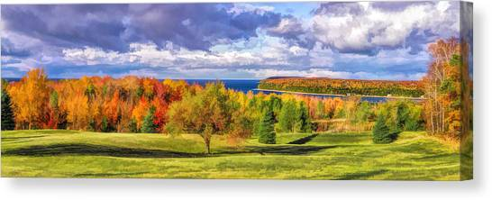 Door County Grand View Scenic Overlook Panorama Canvas Print
