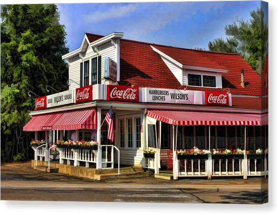 Door County Wilson's Ice Cream Store Canvas Print
