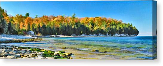 Door County Wisconsin Bay Panorama Canvas Print