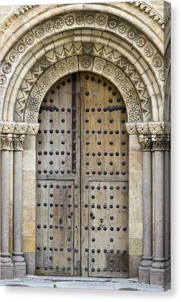 Romanesque Art Canvas Print - Door by Frank Tschakert
