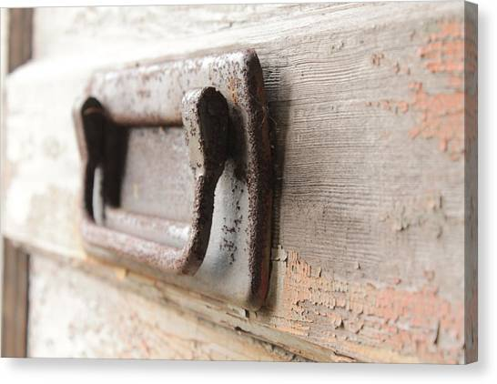 Door Handle Canvas Print by Wayne Thompson