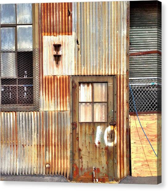 Urban Canvas Print - Door Number 10 by Julie Gebhardt