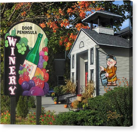 Door Peninsula Winery Canvas Print
