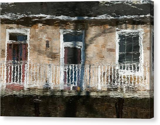 Door Reflections 2 In Perth Ontario Canvas Print