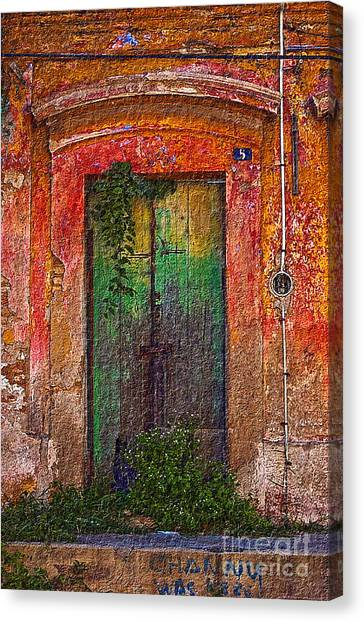 Canvas Print featuring the photograph Door Series - Green by Susan Parish
