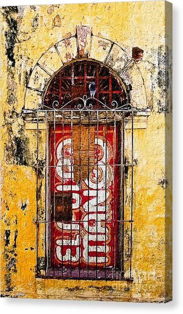 Door Series - Yellow Canvas Print