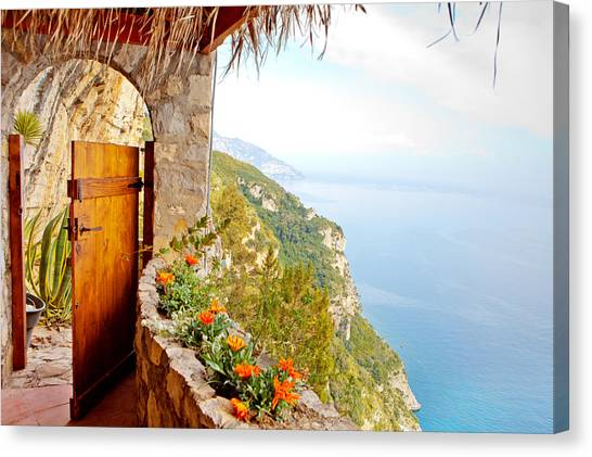 Italy Canvas Print - Door To Paradise by Susan Schmitz