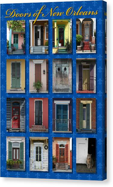 Hurricanes Canvas Print - Doors Of New Orleans by Heidi Hermes