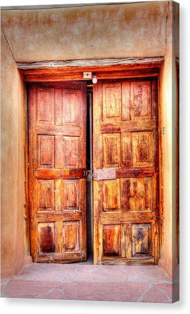 Doors To The Inner Santuario De Chimayo Canvas Print