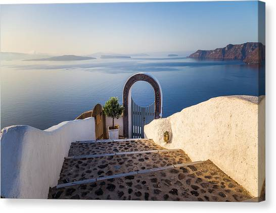 Doorway In Santorini Canvas Print