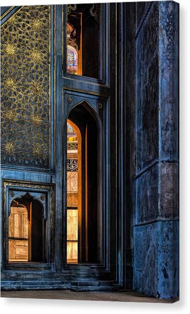 Doorway In The Blue Mosque Canvas Print