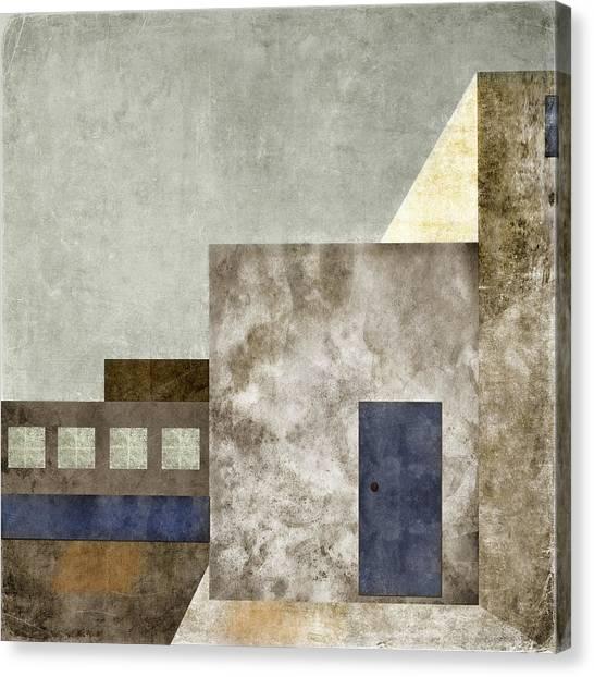 Southwest Canvas Print - Doorway To Geometry by Carol Leigh