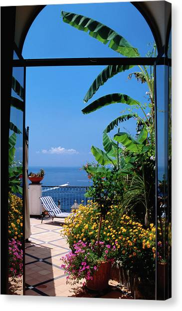 Doorway To Terrace At Hotel Punta Canvas Print