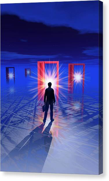 Portal Canvas Print - Doorways Of Opportunity by Carol & Mike Werner