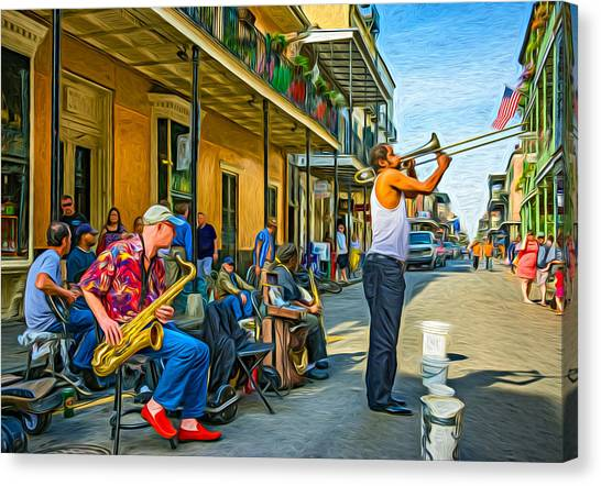 Doreen's Jazz New Orleans - Paint Canvas Print