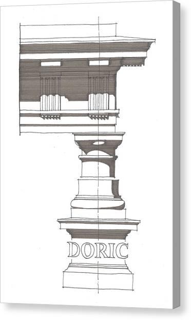 Doric Order Canvas Print