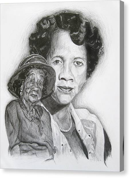 Dorothy Height - Double Portrait Canvas Print
