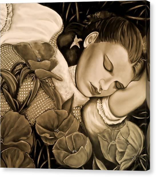 Dorothy's Sleep Sepia Canvas Print