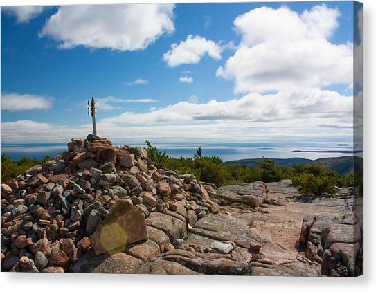 Dorr Mountain Summit - Acadia Canvas Print