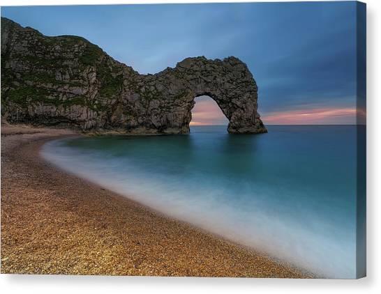 Beach Cliffs Canvas Print - Dorset by Joaquin Guerola