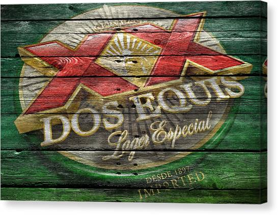 Beer Can Canvas Print - Dos Equis by Joe Hamilton