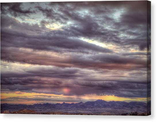 Dot Rainbow Canvas Print