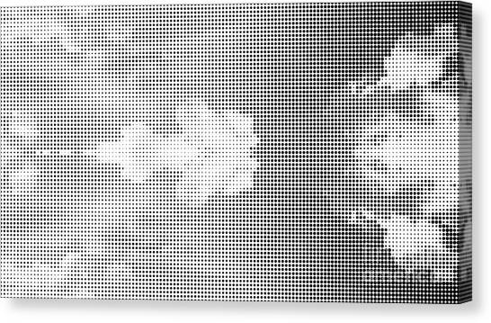 Media Canvas Print - Dotted Background Texture Halftone Dots by Social Media Hub
