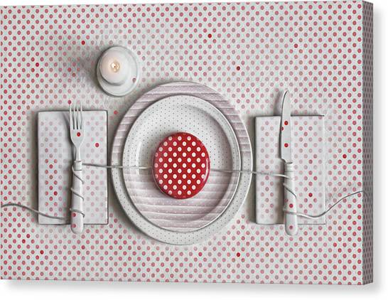 Dotted Dinner Canvas Print by Dimitar Lazarov -