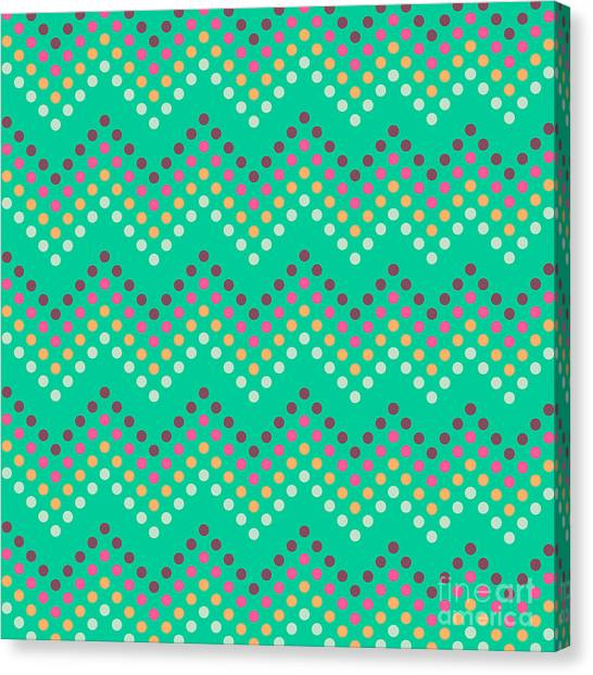 Dotted Lines Zigzag Pattern With Canvas Print by Hakki Arslan