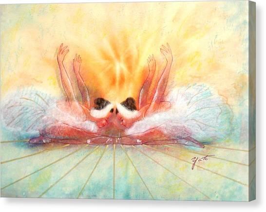 Double Dance Canvas Print by John YATO