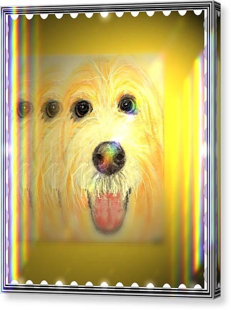 Double Dog Canvas Print