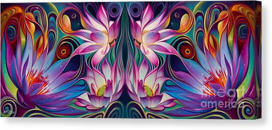 Double Floral Fantasy 2 Canvas Print