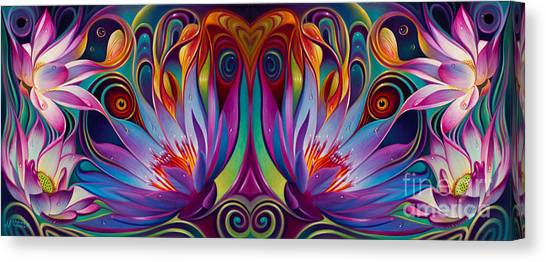 Double Floral Fantasy Canvas Print