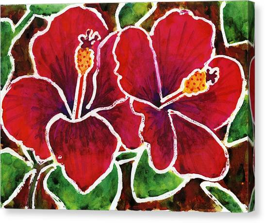 Double Hibiscus Canvas Print